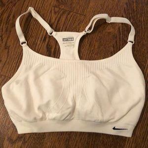 Nike XS/S White Racerback Sports Bra